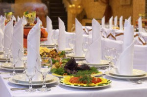 Family style table setting